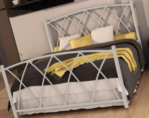Κρεβάτι μεταλλικό 2, λευκό