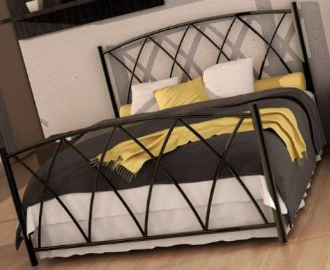 Κρεβάτι μεταλλικό 2, μαύρο