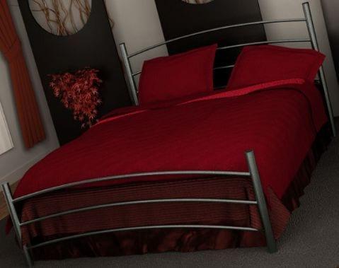 Κρεβάτι μεταλλικό 3, ασημί σφυρήλατο