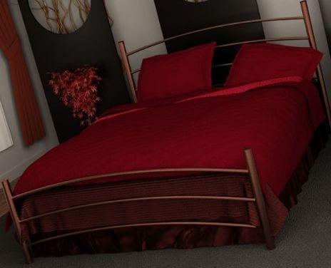 Κρεβάτι μεταλλικό 3, καφέ σφυρήλατο