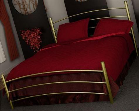 Κρεβάτι μεταλλικό 3, χρυσό σφυρήλατο
