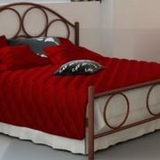 Κρεβάτι μεταλλικό 4, καφέ σφυρήλατο