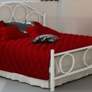 Κρεβάτι μεταλλικό 4, λευκό