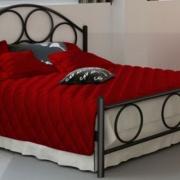 Κρεβάτι μεταλλικό 4, μαύρο