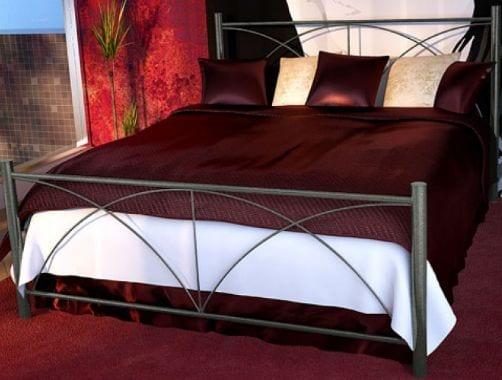 Κρεβάτι μεταλλικό 5, ασημί σφυρήλατο