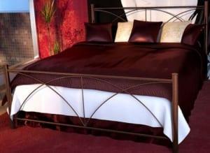 Κρεβάτι μεταλλικό 5, καφέ σφυρήλατο