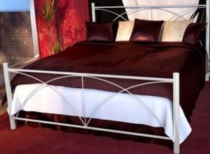 Κρεβάτι μεταλλικό 5, λευκό