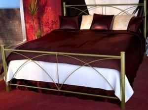 Κρεβάτι μεταλλικό 5, χρυσό σφυρήλατο