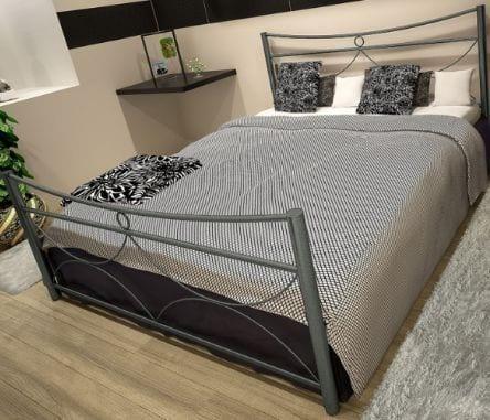 Κρεβάτι μεταλλικό 6, ασημί σφυρήλατο