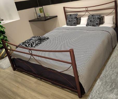 Κρεβάτι μεταλλικό 6, καφέ σφυρήλατο