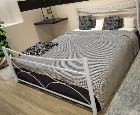 Κρεβάτι μεταλλικό 6, λευκό