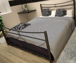 Κρεβάτι μεταλλικό 6, μαύρο