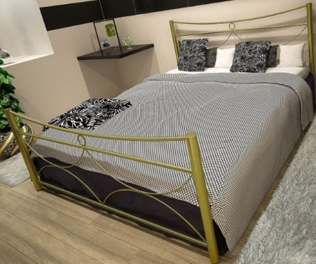 Κρεβάτι μεταλλικό 6, χρυσό σφυρήλατο