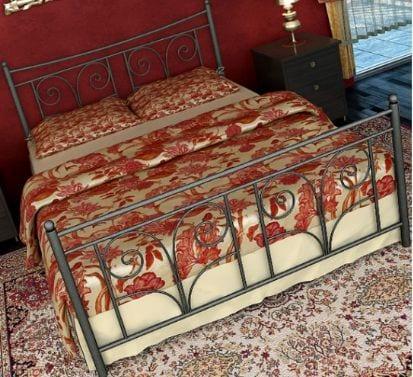 Κρεβάτι μεταλλικό 7, ασημί σφυρήλατο