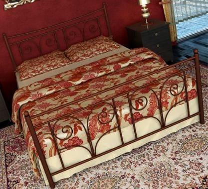 Κρεβάτι μεταλλικό 7, καφέ σφυρήλατο
