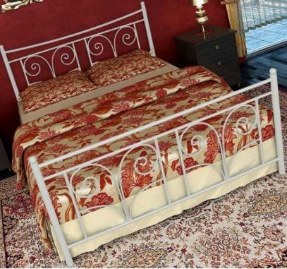 Κρεβάτι μεταλλικό 7, λευκό