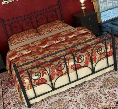 Κρεβάτι μεταλλικό 7, μαύρο