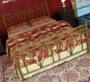 Κρεβάτι μεταλλικό 7, χρυσό σφυρήλατο