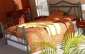 Κρεβάτι μεταλλικό 8, ασημί σφυρήλατο