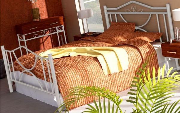 Κρεβάτι μεταλλικό 8, λευκό