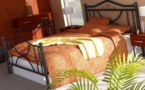 Κρεβάτι μεταλλικό 8, μαύρο