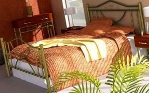 Κρεβάτι μεταλλικό 8, χρυσό σφυρήλατο