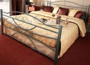 Κρεβάτι μεταλλικό 9, ασημί σφυρήλατο