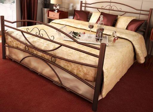 Κρεβάτι μεταλλικό 9, καφέ σφυρήλατο
