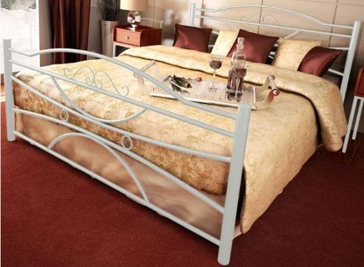 Κρεβάτι μεταλλικό 9, λευκό