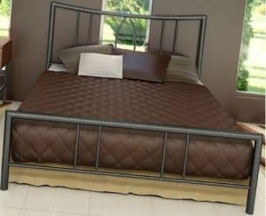 Κρεβάτι μεταλλικό 1, σε ασημί σφυρήλατο