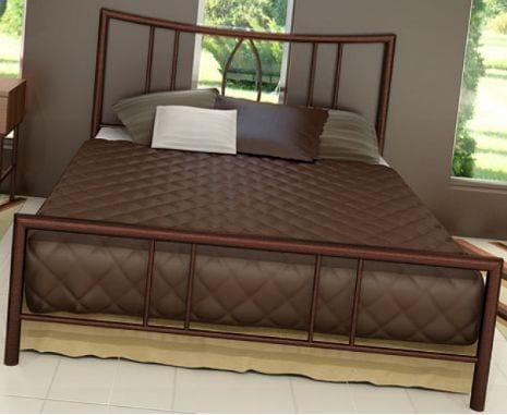 Κρεβάτι μεταλλικό 1, σε καφέ σφυρήλατο