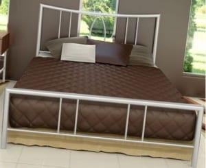 Κρεβάτι μεταλλικό 1, σε λευκό χρώμα