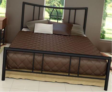 Κρεβάτι μεταλλικό 1, σε μαύρο χρώμα