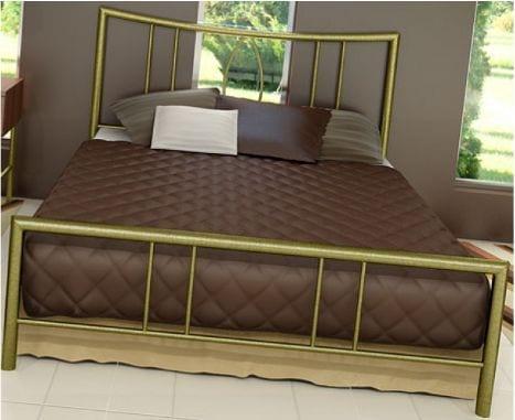 Κρεβάτι μεταλλικό 1, σε χρυσό σφυρήλατο